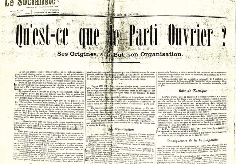 O Programa do Partido Operário francês